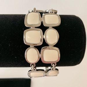 Lia Sophia Silver/Creamy White Bracelet